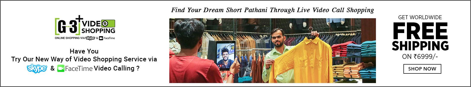 Mens Short Pathani Kurta