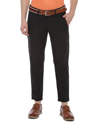 Allen Solly casual wear solid black trouser
