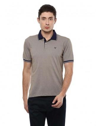 Allen Solly solid beige hued t-shirt