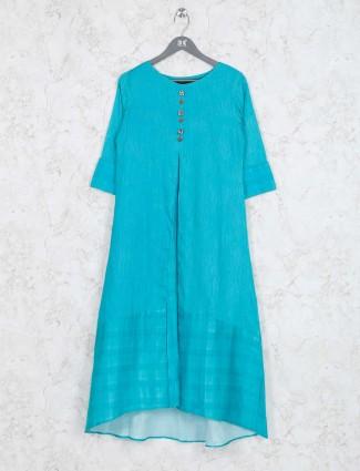 Aqua hue cotton kurti