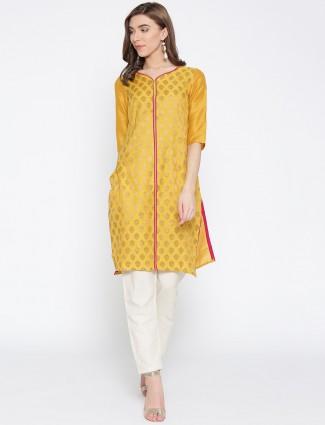 Aurelia wonderful orange cotton kurti