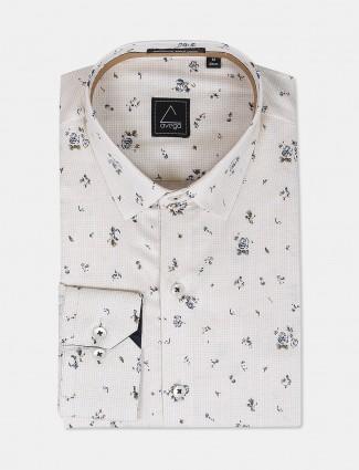 Avega presented cream printed shirt