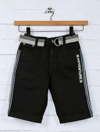 Bad Boys casual wear solid black short