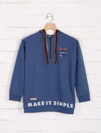 Bambini blue winter hoodie