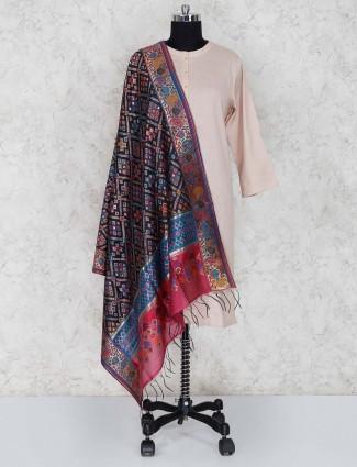 Banarasi silk black dupatta