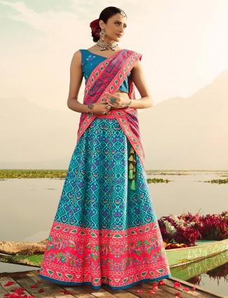 Beautiful blue festive wear readymade lehenga choli