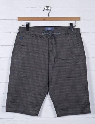 Beevee checks black cotton shorts