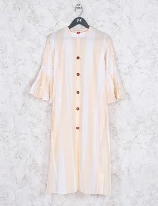Beige hue casual wear classic kurti