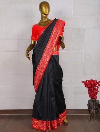 Black color pure south silk saree