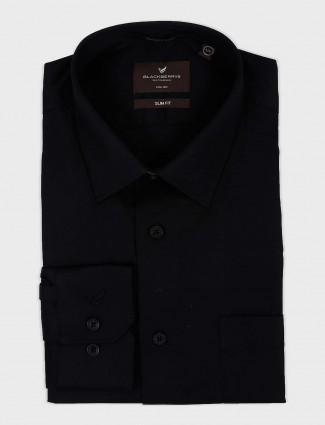 Blackberry jet black solid shirt