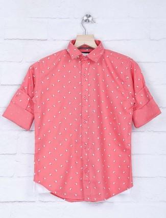 Blazo pink printed casual wear shirt