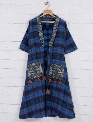 Blue hued kurti in cotton fabric