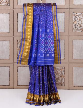 Blue patola silk classic saree