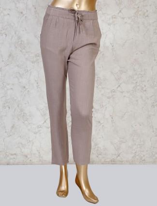 Boom beige casual linen payjama pant