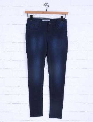 Boom dark navy plain womens jeans