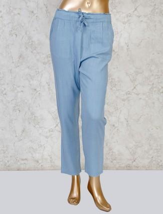 Boom powder blue linen payjama
