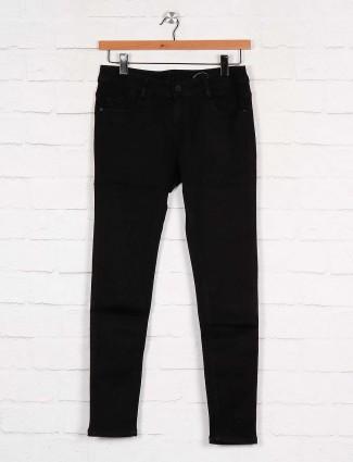 Boom solid black denim women jeans