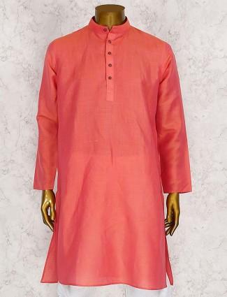 Bright peach wedding kurta suit