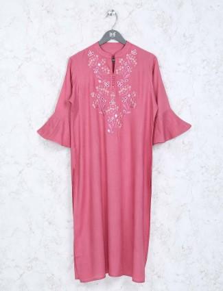Casual wear kurti in peach colored