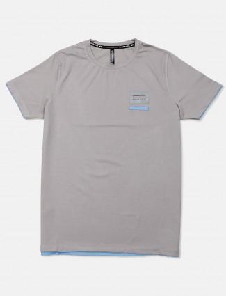 Chopstick presented solid grey t-shirt