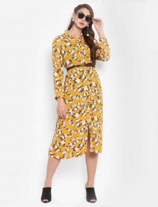 Cotton fabric mustard yellow top