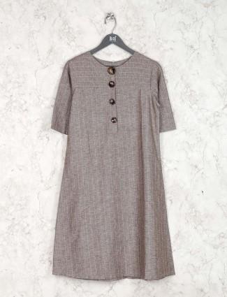 Cotton kurti in grey hued