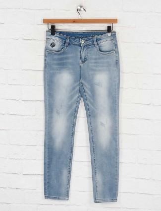 Deal light blue skinny fit regular jeans