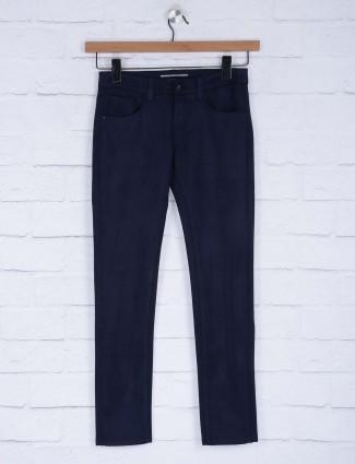Deal navy blue plain casual denim jeans