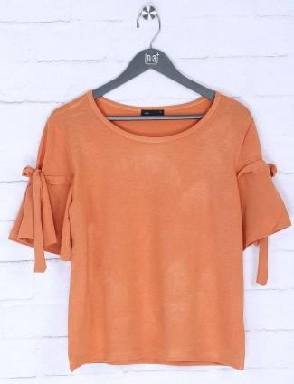 Deal rust orange pretty cotton top