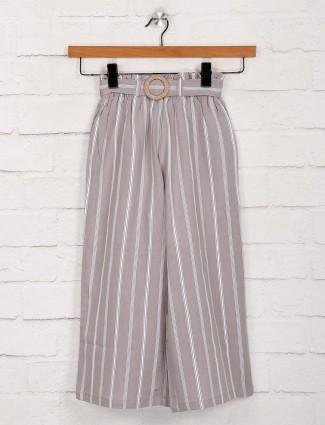 Deal stripe grey cotton palazzo