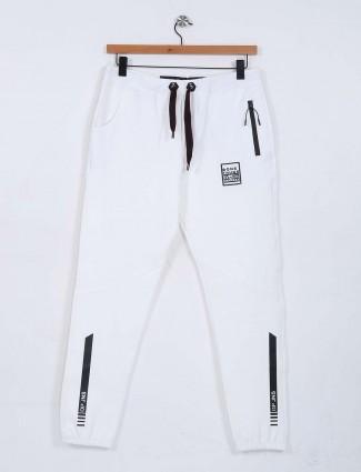 Deepee plain white hue track pant
