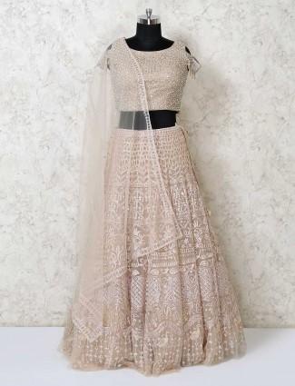 Designer gold organza tissus silk party wear lehenga choli