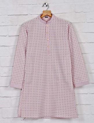 Dusty pink exclusive cotton kurta suit