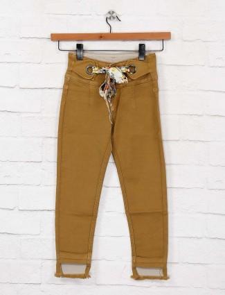 EBONY girls khaki hue denim casual jeans