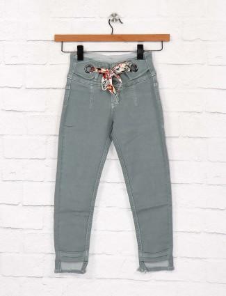 EBONY green denim casual wear jeans