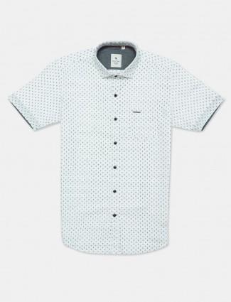 Eqiq white casual printed shirt
