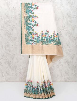 Festive wear handloom cotton silk lovely saree