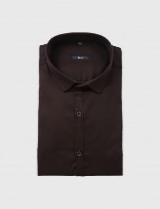 Fete brown formal shirt