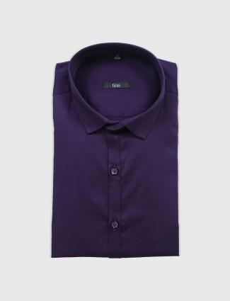 Fete purple formal shirt