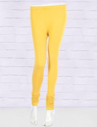 FFU bright yellow solid leggings