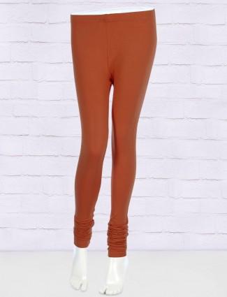 FFU rust orange color cotton leggings