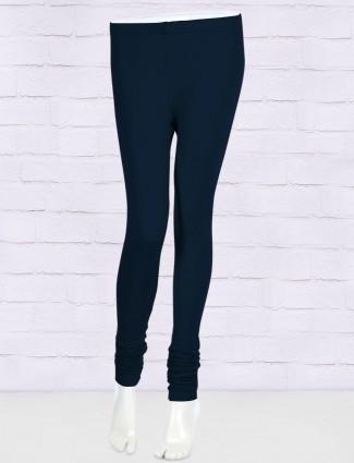 FFU solid pattern navy leggings