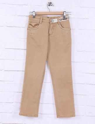 Forway khaki solid denim boys jeans