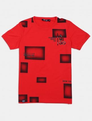 Freeze casual orange printed t-shirt