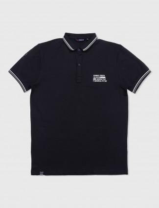 Freeze cotton jet black t-shirt