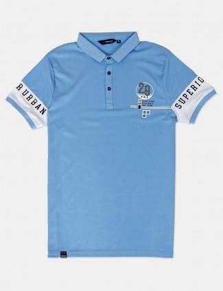 Freeze light blue cotton new style t-shirt