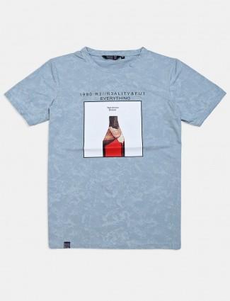 Freeze light blue printed t-shirt