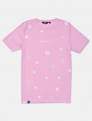 Freeze printed pink t-shirt
