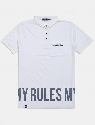 Freeze white printed casual t-shirt