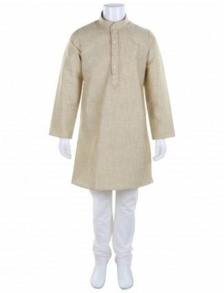 G3 Exclusive cotton festive beige kurta suit